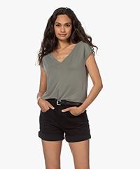 Plein Publique Le Calin Cupro T-shirt - Soft Green