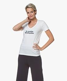La Petite Française Thibault Logo T-Shirt - Ecru