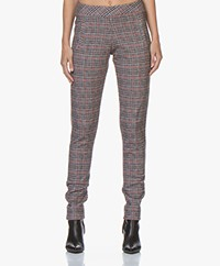 Josephine & Co Geena Checkered Jersey Pants - Tomato Red