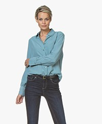 Joseph Klein Pure Silk Shirt - Blue