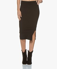 Joseph Jersey Silk Blend Pencil Skirt - Black