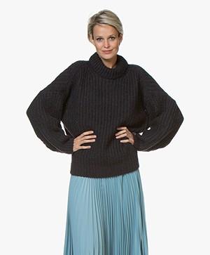 ba&sh Emma Chunky Knit Sweater - Dark Blue