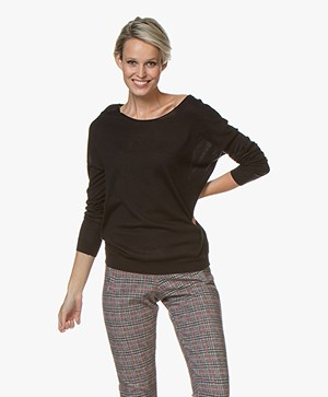 Marie Sixtine Bleuet Viscose Blend Sweater - Charbon