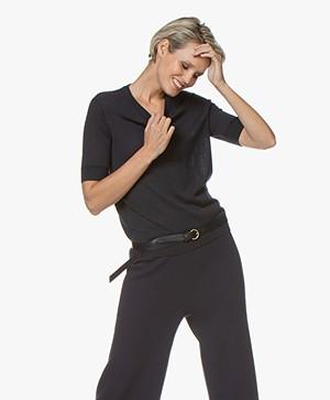 Marie Sixtine Axelle Short Sleeve Pullover - Sailor