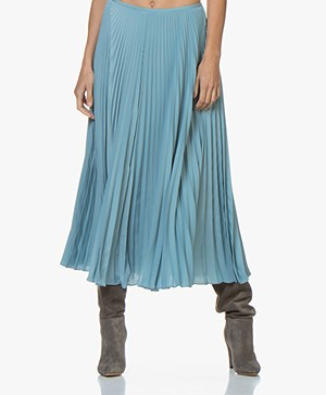 Joseph Abbot Pleated Midi Skirt - Blue