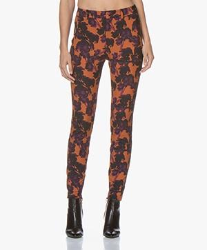Drykorn Winch Skinny Floral Print Pants - Orange