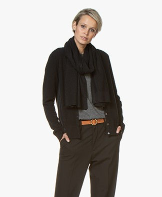 Repeat Luxury Cashmere Scarf - Black