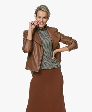 Drykorn Ceylon Leather Biker Jacket - Camel