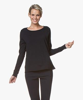 Sibin/Linnebjerg Maria Fine Knit Merino Sweater - Navy