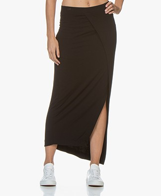 Majestic Filatures Soft Touch Jersey Skirt - Black