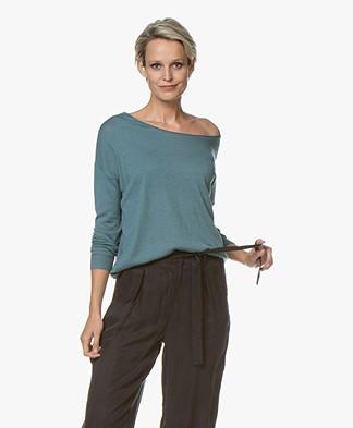 Marie Sixtine Bleuet Viscose Blend Sweater - Brume