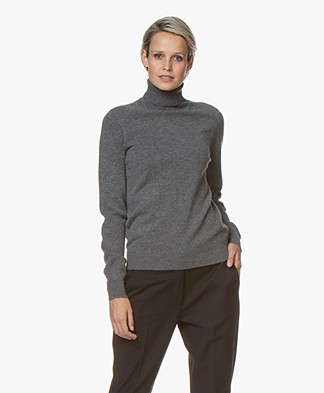 Repeat Cashmere Fine Knitted Turtleneck Pullover - Medium Grey