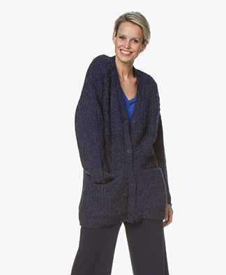 Josephine & Co Gabrio Chunky Knit Cardigan - Purple Blue