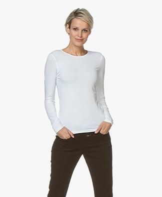 Filippa K Cotton Stretch Longsleeve - Wit