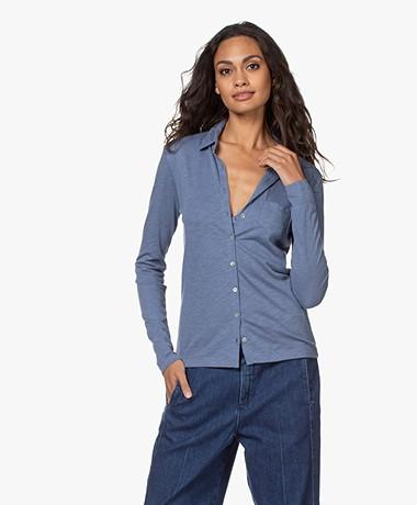 Belluna Marlo Katoenmix Jersey Blouse - Jeans