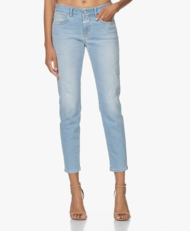 Closed Baker Distressed Slim-fit Jeans - Lichtblauw