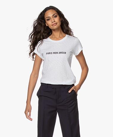 Zadig & Voltaire Skinny Paris Slub T-shirt - Wit