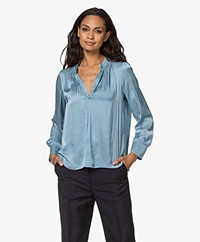 Zadig & Voltaire Tink Japanese Satin Blouse - Azur