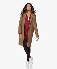By Malene Birger Ellinor Knee-length Wool Blend Coat - Sandy-brown