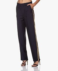 Zadig & Voltaire Peter Military Side Stripe Pants - Navy