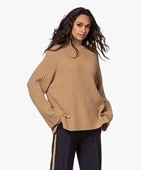 By Malene Birger Peach Chunky Knit Turtleneck Sweater - Sandy-Brown