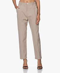 IRO Ekos Cotton Twill Pants - Beige