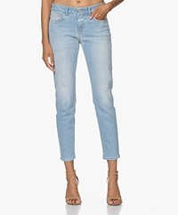 Closed Baker Distressed Slim-fit Jeans - Light Blue