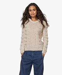 by-bar Mika Ajour Alpaca Blend Sweater - Stone Sand