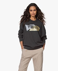 IRO Luwuk Metallic Logo Sweater - Dark Grey