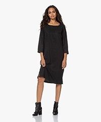 by-bar Noa Tencel Dress - Jet Black