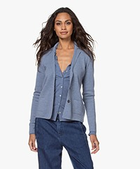 Belluna Anemoon Merino Milano Blazer Cardigan - Light Blue