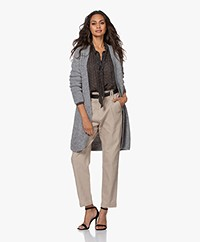 Josephine & Co Jack Open Alpaca Blend Cardigan - Silver Grey
