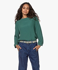 by-bar Floor Viscose Crêpe Blouse - Hill Green