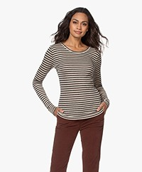 by-bar Basic Striped Long Sleeve - Sand/Anthracite