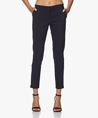 Woman by Earn Sue Stretch Viscose Pants - Navy