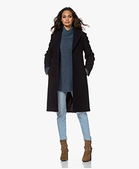 Filippa K Barnsbury Knee-length Wool Coat - Navy