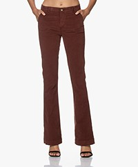 by-bar Leila Corduroy Twill Flared Broek - Bruin