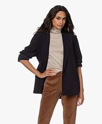 American Vintage Sirbury Wool Blend Blazer - Navy