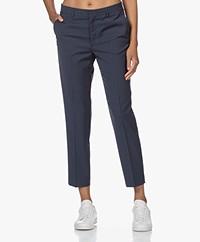 Filippa K Emma Cropped Cool Wool Pantalon - Storm Blue