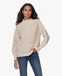 Repeat Merino Woolen Sweater - Light Beige