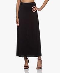 Filippa K Selma Satin A-line Maxi Skirt - Black