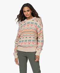 Closed Alpaca and Wool Blend Jacquard Sweater - Vanilla Sherbet
