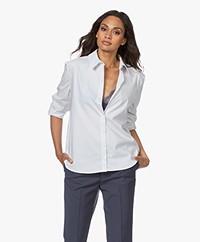 ba&sh Dave Cotton Mix Striped Shirt - White