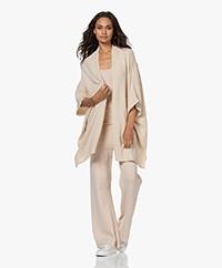 Sibin/Linnebjerg Prague Merino Wool Blend Poncho Cardigan - Kit