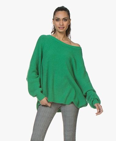 American Vintage Wopy Oversized Rib Sweater - Lawn