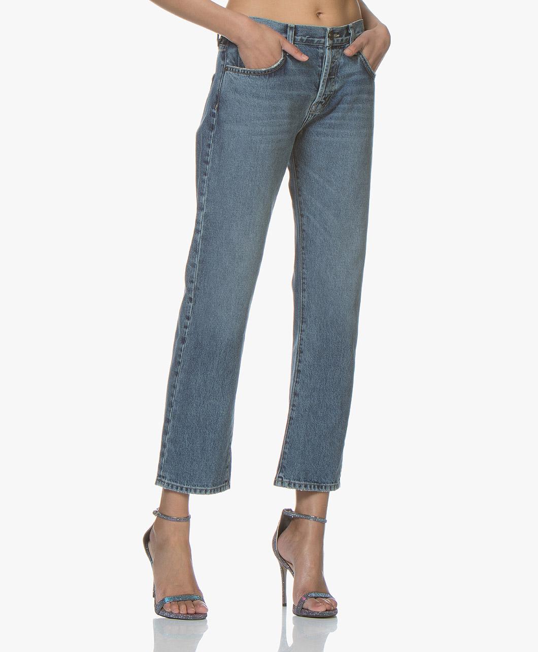 Afbeelding van Current/Elliott Jeans The Original Straight in Grassland Blauw