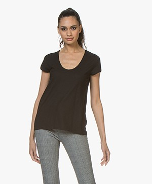 Drykorn Avivi Slub Jersey T-shirt - Zwart