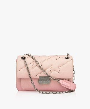 Zadig & Voltaire Ziggy Matelasse Clous Shoulder Bag - Pink