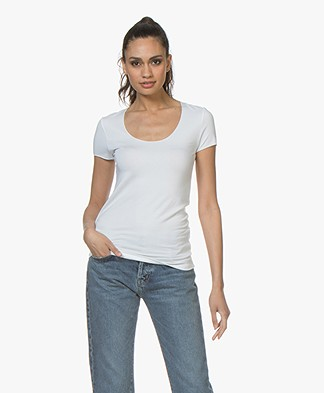 Majestic Filatures Round Neck T-Shirt - White
