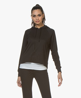 Rag & Bone Athletic Katoenmix Capuchon Sweater - Zwart